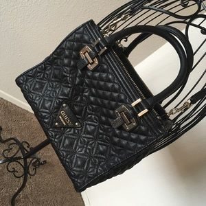 Black quilted Guess purse